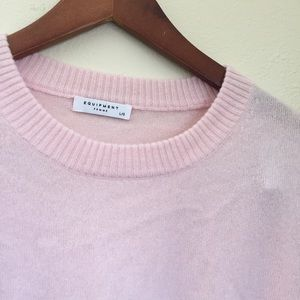 Equipment pink blush long sleeve top sweater Bryce